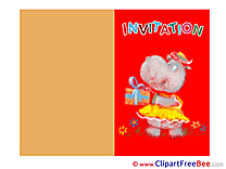 Download Hippo Wishes Invitations Postcards