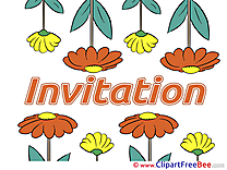 Flowers Invitations Greeting Cards for free