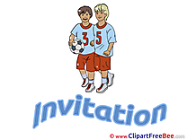 Football Player Invitations Postcards