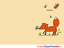 Fox Wishes Invitations free eCards