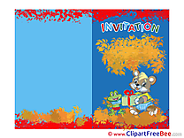Frog Bear Invitations Greeting Card for free