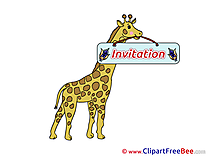 Giraffe Invitations Greeting Cards