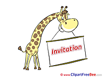 Giraffe Wishes Invitations Greeting Cards