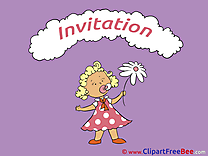 Girl Greeting Cards Invitations