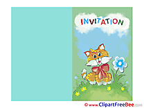 Grass Cat Wishes Invitations free eCards