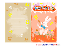 Hare Invitations Greeting Card for free
