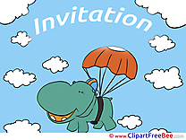 Hippo download Wishes Invitations Postcards