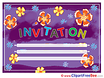 Illustration Invitations Postcards