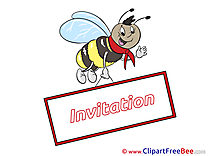 Insect Bee Greeting Card download Invitations