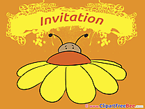Insect Invitations free eCards download