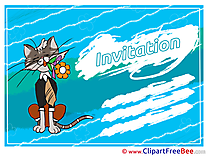 Invitation Cat Wish Card