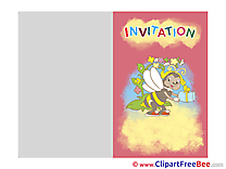 Invitations Bee free eCards download