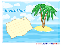 Island printable Greeting Cards Invitations