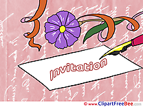 Letter Postcards Invitations for free