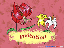 Lilies Invitations Greeting Cards for free