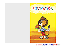 Lion Invitations free eCards download
