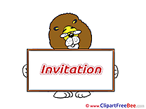 Lion Invitations Wish Card