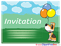 Little Dog Wishes Invitations Greeting Cards