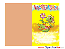 Lizard printable Invitations eCards