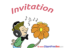 Man Flower Wishes Invitations free eCards