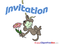 Monkey Invitations Postcards