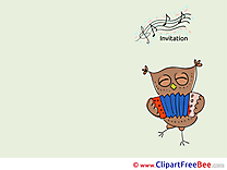 Owl Accordion Invitations Greeting Cards