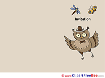 Owl printable Greeting Cards Invitations