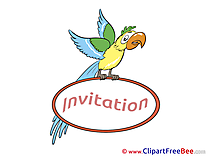Parrot printable Greeting Cards Invitations