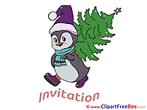 Penguin Postcards Invitations for free