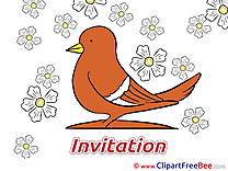 Pigeon Postcards Invitations for free