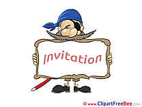 Pirate Invitations download Greeting Cards