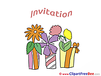 Pot Flowers download Wishes Invitations Postcards
