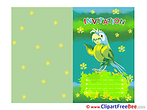 Printable Parrot Greeting Cards Invitations