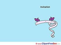 Ribbon Birds Postcards Invitations for free