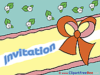 Ribbon free Postcards Invitations