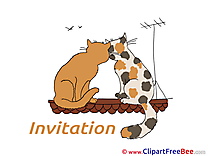 Roof Cats Invitations Wish Card