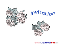 Roses free Postcards Invitations