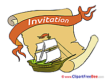Ship Wishes Invitations Greeting Cards