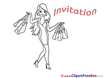 Shopping printable Greeting Cards Invitations