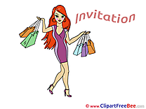 Shopping Wishes Invitations free eCards
