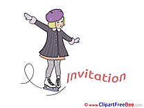 Skating Invitations Greeting Cards for free
