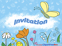 Sky Flowers Invitations Greeting Card for free