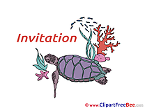 Turtle Greeting Card download Invitations