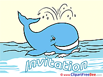 Whale Greeting Cards Invitations