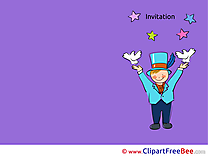 Wizard printable Invitations eCards