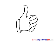 Fingers Cliparts Thumbs up for free