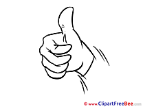 Hand Clipart Thumbs up Illustrations
