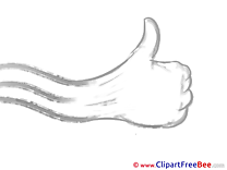 Hand Pics Thumbs up Illustration
