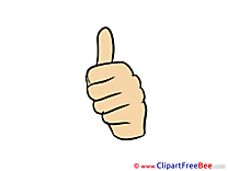 Thumbs up download Illustration