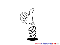 Toy Thumbs up Clip Art for free